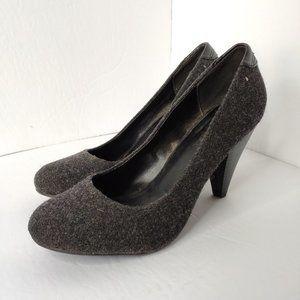 CALL IT SPRING Grey Tweed Round toe Heels